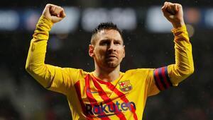 Messi Barcelonayı zafere taşıdı