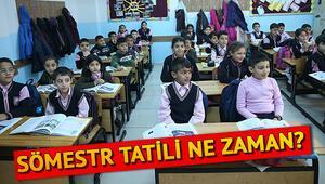 2019 2020 sömestr tatili ne zaman Yarıyıl tatiline kaç gün kaldı
