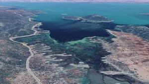 Beyşehir Gölünde korkutan görüntü