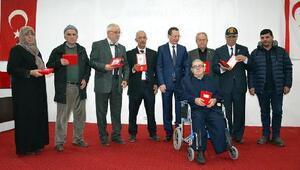 Turgutluda 63 Kıbrıs gazisine madalya ve beratları verildi