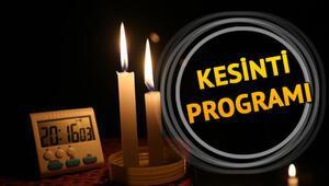 İstanbulda elektrikler ne zaman gelecek 4 Aralık elektrik kesintisi programı