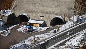 Karadenizi İç Anadoluya bağlayacak Eğribel tünelinde ikmal inşaatına başlandı