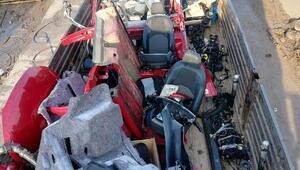 7 araç parçalanmış halde bulundu