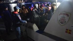 Dikilide 47 göçmen ile 1 organizatör yakalandı