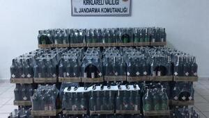 Vize'de 3 bin 291 litre  kaçak içki ele geçirildi