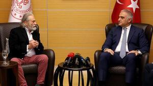 Bakan Ersoy, Haluk Bilginer ile bir araya geldi