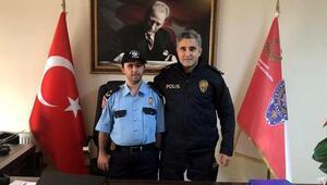 Otizmli Ömerin polis olma hayali gerçek oldu