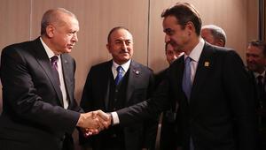 Son dakika haberi... Cumhurbaşkanı Erdoğan, Miçotakis ile görüştü