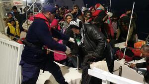Kuşadasında 24ü çocuk 40 kaçak göçmen yakalandı
