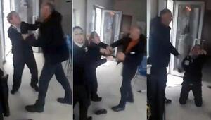 Skandal görüntü Kadın görevlilere saldırdı, yerlerde sürükledi