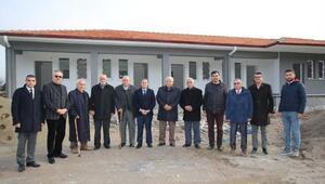 Başkan Özdoğan, inşaat halindeki stadyumu inceledi