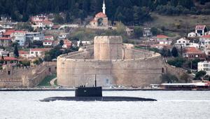 Rus denizaltısı Novorossiysk, Akdenize iniyor