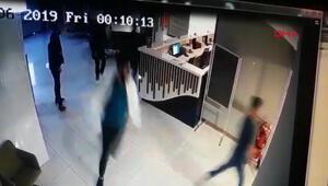 Bahçelievlerde hastanedeki saldırı kamerada