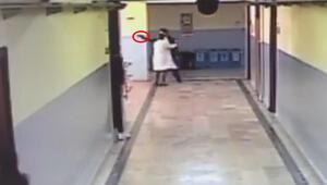 Okul koridorunda korku dolu anlar: Terör estirdi