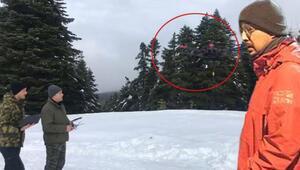 Kayıp dağcıların montunun bulunduğu yere özel termal drone sevk edildi