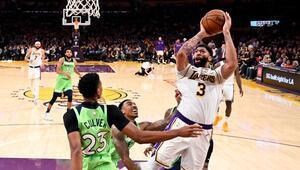 NBAde günün sonuçlar | Lakers, Davisin 50 sayı attığı maçta Timberwolvesu yendi