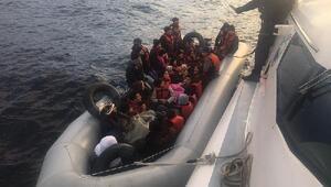 Enezde 38 kaçak göçmen yakalandı