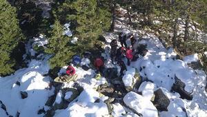 Uludağda kayıp iki dağcı drone ile arandı