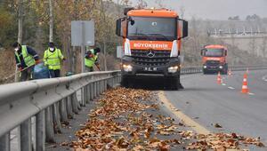 Kent genelinde yaprak temizliği
