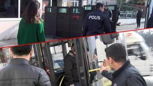 Halk otobüsünde ortalık karıştı