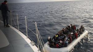 Kuşadası ve Didim açıklarında 132 kaçak göçmen yakalandı