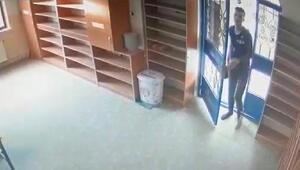 Çorumda camilerdeki hırsızlık anı kamerada