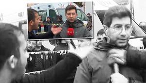 Acı haberi anlatırken geldiler... DHA muhabirine çirkin saldırı