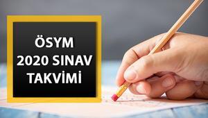2020 ÖSYM sınav takvimi: YKS KPSS ALES DGS ne zaman yapılacak İşte sınav ve başvuru tarihleri