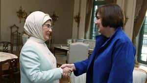 Emine Erdoğan, Satterfieldin eşi Fritschle ile bir araya geldi