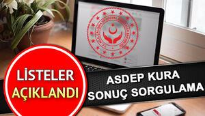 ASDEP sürekli işçi alımı kuraları çekildi Kura sonucu sorgulama sayfası
