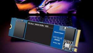 WD Blue SN550 NVMe SSD tanıtıldı: 4 kat daha hızlı...