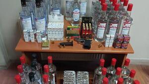 Kütahyada kaçak içki operasyonu
