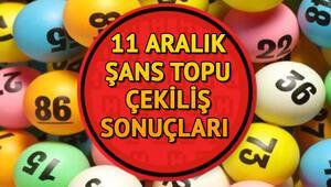 Haftanın Şans Topu çekilişi tamamlandı MPİ  11 Aralık Şans Topu sonuç sorgulama ekranı