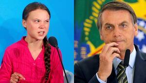 Brezilya lideri Bolsorano Gretaya velet dedi: Greta biyografisini değiştirdi