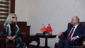 Portekiz'in Ankara Büyükelçisi Silva, Vali Özdemir'i ziyaret etti