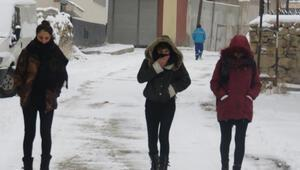 Başkalede kar yağışı