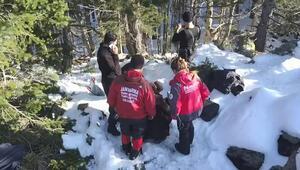 Uludağda kaybolan 2 dağcıyı arama çalışmaları 13'üncü günde de sürüyor
