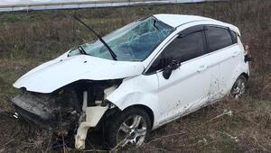 Bursadaki kazada emniyet kemeri sürücünün hayatını kurtardı