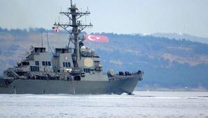 ABD savaş gemisi USS Ross Çanakkale Boğazından geçti