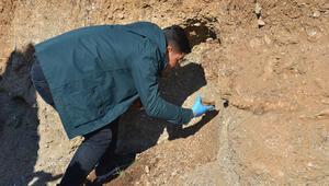 Yol çalışmasında insan iskeleti bulundu