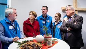 Steinmeir'den bir ziyaret de yardımevine
