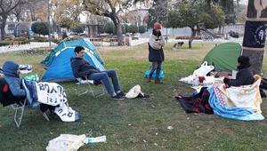 İBB önünde çadırlarda sabahladılar