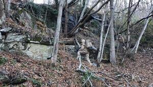 Yer Hatay... Ormanın içinde 6 katlı sığınak bulundu