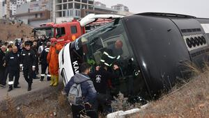 Son dakika haberi: Kırıkkalede yolcu otobüsü devrildi: 7 yaralı