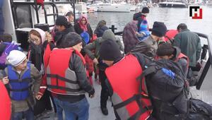 Çanakkalede 102 düzensiz göçmen yakalandı