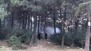 Ormanlık alandaki kundaklama şüphesi polisi alarma geçirdi