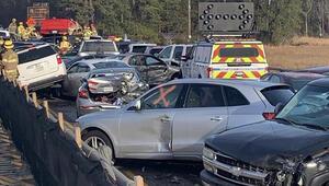 ABDde zincirleme kaza 69 araç birbirine girdi