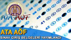 ATA AÖF sınav yerleri OBS üzerinden açıklandı | OBS sınav giriş belgesi sorgulama linki