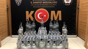 Çanakkalede 150 şişe sahte içki ele geçirildi
