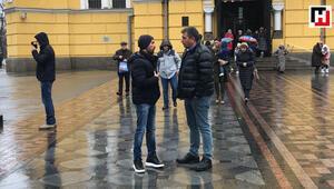 Hürriyet muhabiri Toygun Atilla,Ukrayna'da Gökhan Bozkır ile görüştü